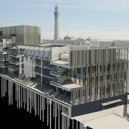 University of Birmingham Library Concept BIM model 3d Visualisation